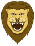Grande Lion Head Cartoon selvaggio Fotografie Stock Libere da Diritti