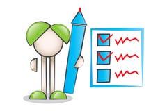 Grande liste de stylo et de contrôle Photo stock