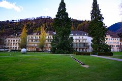 Grande località di soggiorno cattivo Ragaz, cattivo Ragaz, Svizzera fotografia stock libera da diritti