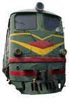 Grande locomotiva verde Fotografie Stock