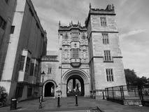 Grande loge du portier Abbey Gatehouse dans Bristol en noir et blanc photographie stock libre de droits