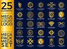 Grande Logo Template Vetora Design do grupo do luxo, o real e o elegante ilustração royalty free