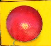 Grande lumière rouge d'arrêt Photo libre de droits