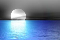 Grande luna blu Fotografie Stock