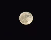 Grande luna piena Fotografie Stock Libere da Diritti