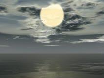 Grande lune Image libre de droits
