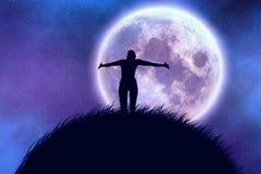 Grande lune Images libres de droits