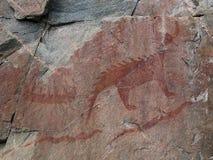 Grande Lynx della roccia di Agawa Fotografia Stock Libera da Diritti