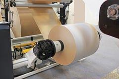 Grande macchina della stampa di stampa offset Fotografie Stock