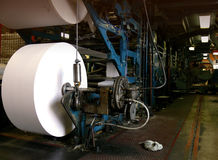 Grande macchina della stampa di stampa offset Fotografia Stock