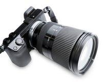 Grande macchina fotografica dello zoom Immagini Stock Libere da Diritti