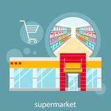 Grande magazzino, centro commerciale e deposito di modo illustrazione vettoriale