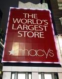Grande magazzino del Macy del segno Fotografie Stock Libere da Diritti