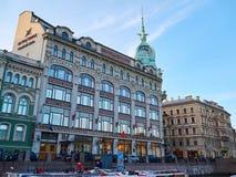 Grande magazzino del rossetto di Pont dell'Au in San Pietroburgo, Russia Fotografia Stock Libera da Diritti