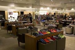 Grande magazzino della scarpa Fotografie Stock