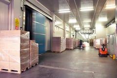 Grande magazzino freddo Immagini Stock