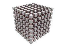 Grande maglia del cubo Fotografia Stock Libera da Diritti