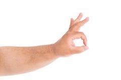 Grande main d'isolement Photo libre de droits