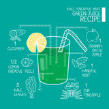 Grande mais detoxifier das receitas verdes do suco Foto de Stock