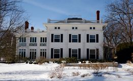 Grande maison blanche Images libres de droits