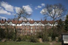 Grande maison dans la route de Winnington, Hampstead, Londres, Angleterre, R-U Image stock