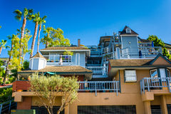Grande maison dans le Laguna Beach Photo stock