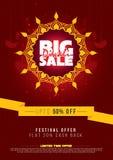 Grande manifesto di Diwali di vendita Fotografie Stock