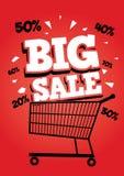 Grande manifesto di vendita Fotografia Stock