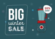 Grande manifesto di vendita di inverno Immagine Stock