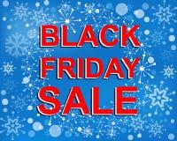 Grande manifesto di vendita di inverno con il testo di VENDITA di BLACK FRIDAY Insegna di vettore di pubblicità Royalty Illustrazione gratis