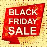 Grande manifesto di vendita di inverno con il testo di VENDITA di BLACK FRIDAY Insegna di vettore di pubblicità Illustrazione di Stock