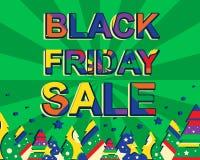 Grande manifesto di vendita di inverno con il testo di VENDITA di BLACK FRIDAY Insegna di vettore di pubblicità Illustrazione Vettoriale