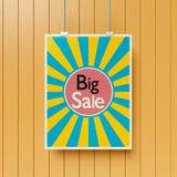 Grande manifesto di vendita su una rappresentazione della parete 3d royalty illustrazione gratis