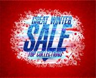 Grande manifesto di vettore di vendita di inverno illustrazione vettoriale