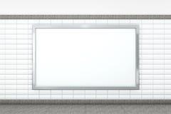 Grande manifesto orizzontale in bianco rappresentazione 3d Fotografia Stock