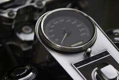 Grande manopola del tachimetro del motociclo Fotografia Stock Libera da Diritti