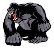 Grande mascotte della gorilla Fotografie Stock