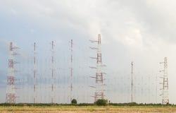 Grande matrice di antenne fotografia stock