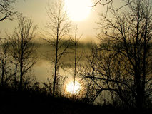 Grande mattina del fiume fotografia stock libera da diritti