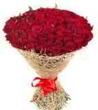 Grande mazzo delle rose rosse Fotografia Stock