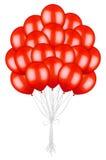 Grande mazzo di palloni rossi variopinti Fotografia Stock Libera da Diritti
