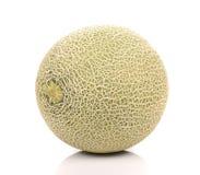 Grande melone su fondo bianco Fotografia Stock