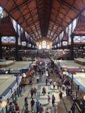 Grande mercado Salão, Budapest, Hungria foto de stock
