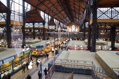 Grande mercato Corridoio dentro Fotografie Stock Libere da Diritti