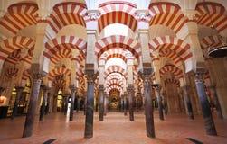 A grande mesquita de Córdova, Espanha Fotos de Stock