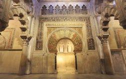 A grande mesquita de Córdova, Espanha Foto de Stock