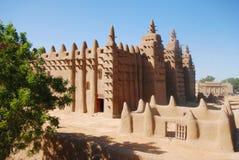 Mesquita grande de Djenne, Mali, África imagem de stock