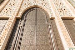 A grande mesquita de Hassan II em Casablanca, Marrocos Fotografia de Stock Royalty Free