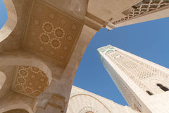 A grande mesquita de Hassan II em Casablanca, Marrocos Fotos de Stock