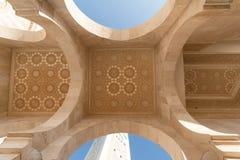 A grande mesquita de Hassan II em Casablanca, Marrocos Imagens de Stock